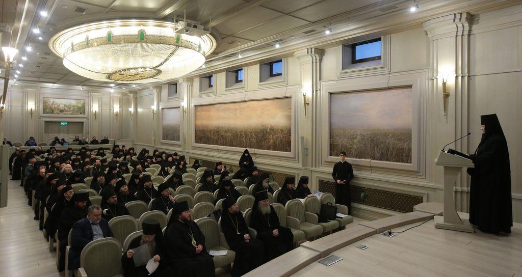 В Московском Сретенском монастыре состоялось собрание епархиальных благочинных по монастырям